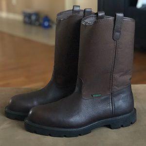 Men's Homeland Steel Toe Wellington Work Boots 12W